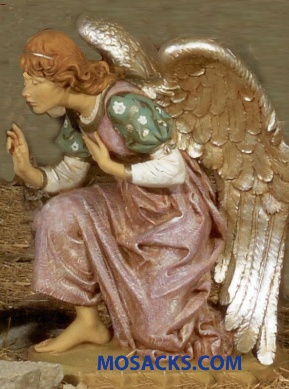 "Fontanini Nativity 50"" Masterpiece Collection Angel Kneeling Angel #52318"