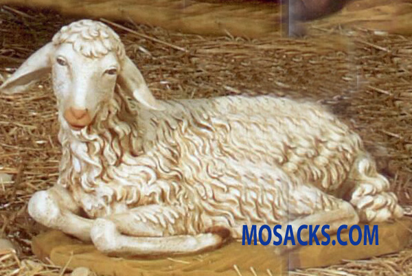 "Fontanini 50"" Masterpiece Nativity Collection Seated Sheep #52340"