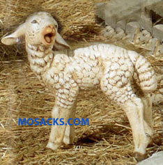 "Fontanini 50"" Masterpiece Nativity Collection Standing Sheep Head Turned #52337"