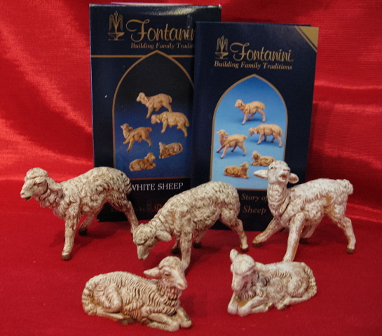 Fontanini 5 Inch White Sheep 5 Piece Set72539