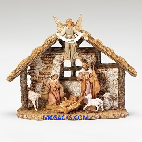 "Fontanini 5"" 7-Piece Nativity Set with Resin Stable-54461 RETIRED"