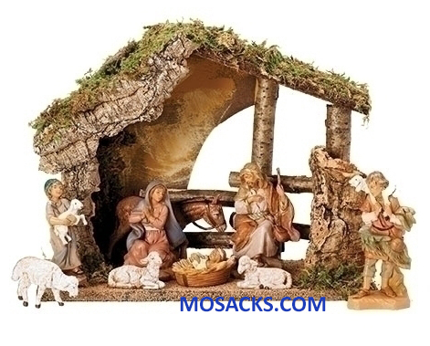 "Fontanini 5"" 9-Piece Nativity Set with Italian Stable-54426 RETIRED"
