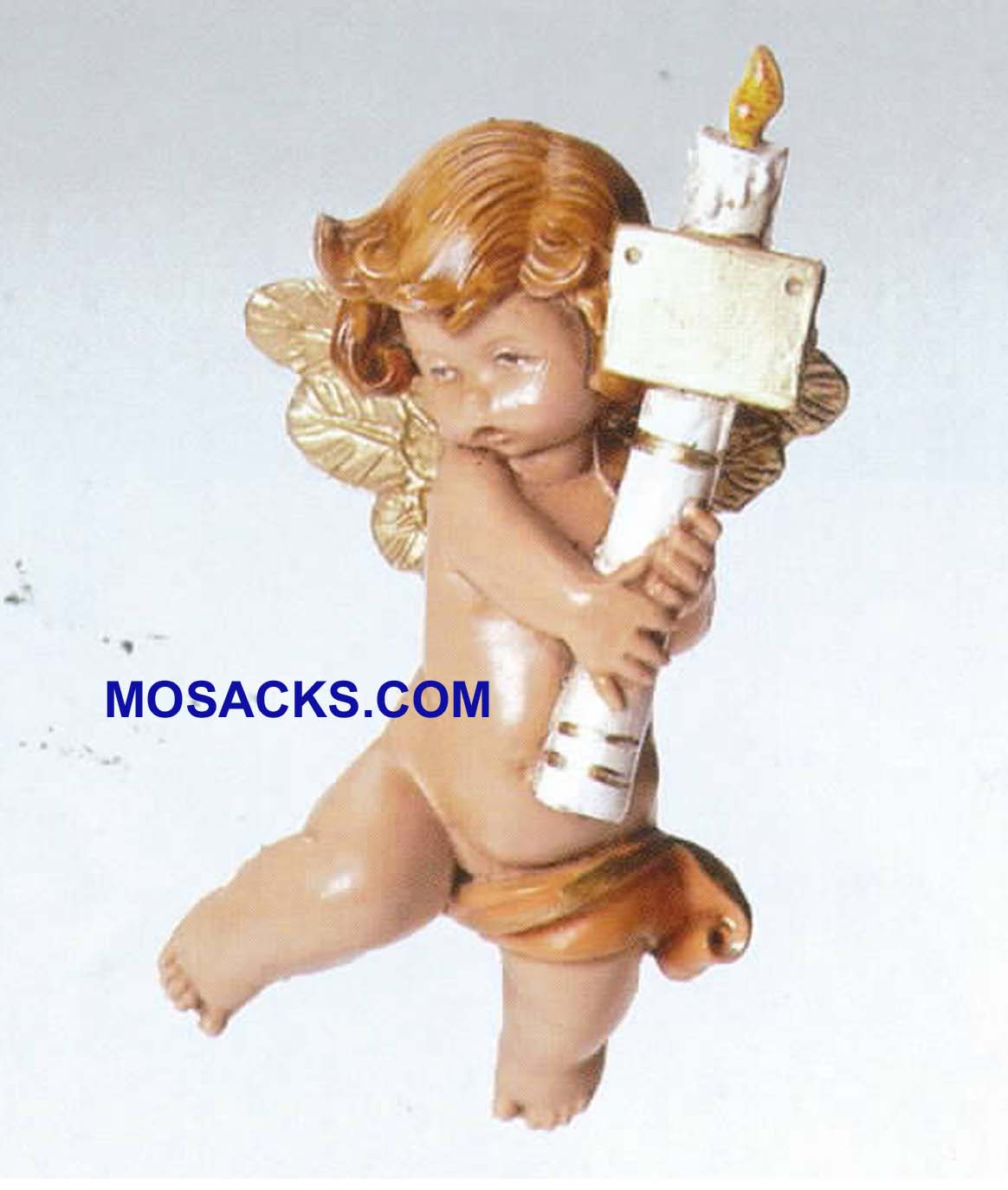 Fontanini Cherub Angel With Candle Ornament 54070 RETIRED