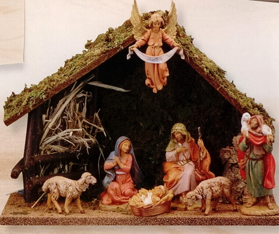 Fontanini 5 Inch Nativity 7 Pc. Stable Set 54564