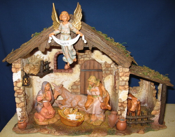 Fontanini 5 Inch Six-Figure Lighted Nativity Set #54567