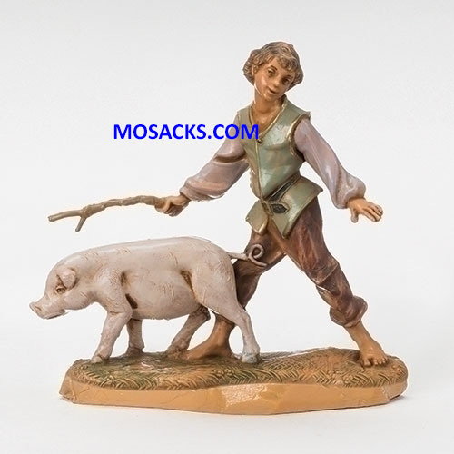 Fontanini 5 Inch Villager Clement Boy With Pig 20-54088 RETIRED