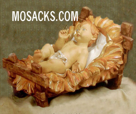 "Fontanini 70"" Masterpiece Nativity Collection Infant Jesus w/Manger #57713"