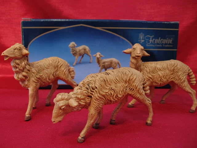 Fontanini 7.5 Inch Brown Sheep 3 Pc Set 52839