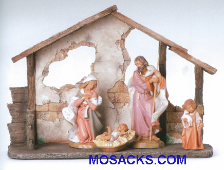 Fontanini Heirloom 7 Inch 4 Piece Nativity Set With Stable-54842