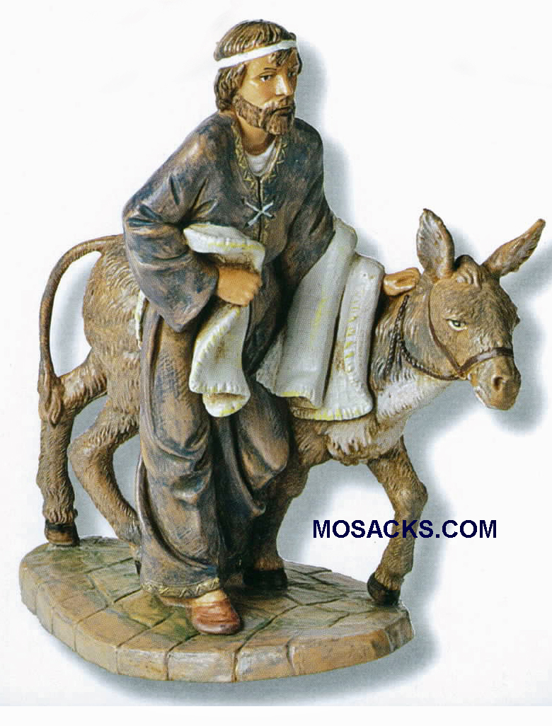 "Fontanini  Nativity 7.5"" scale Baruch With Donkey-54814 RETIRED"