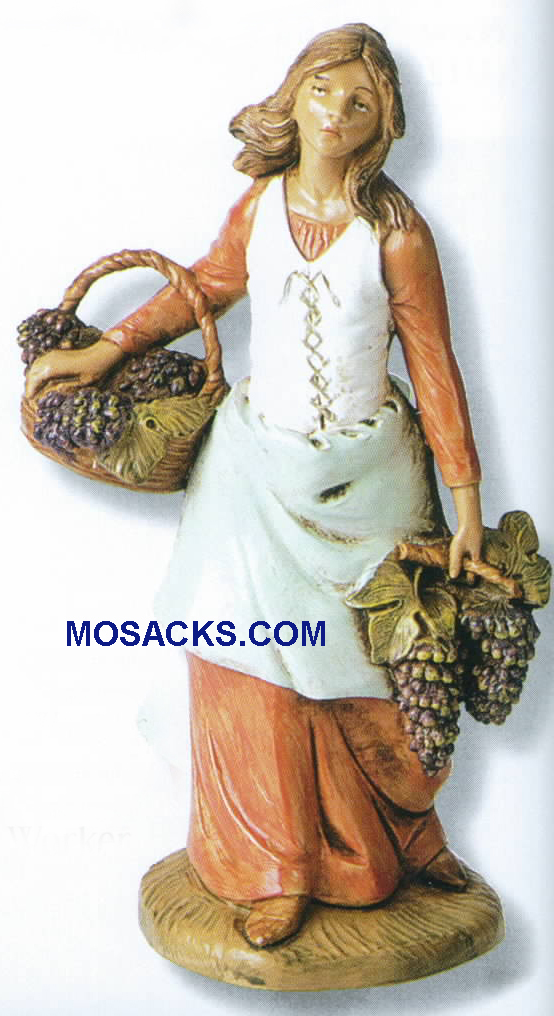 "Fontanini Heirloom Nativity 7.5"" scale CarmiVineyard Worker-52827,  Fontanini Villager"