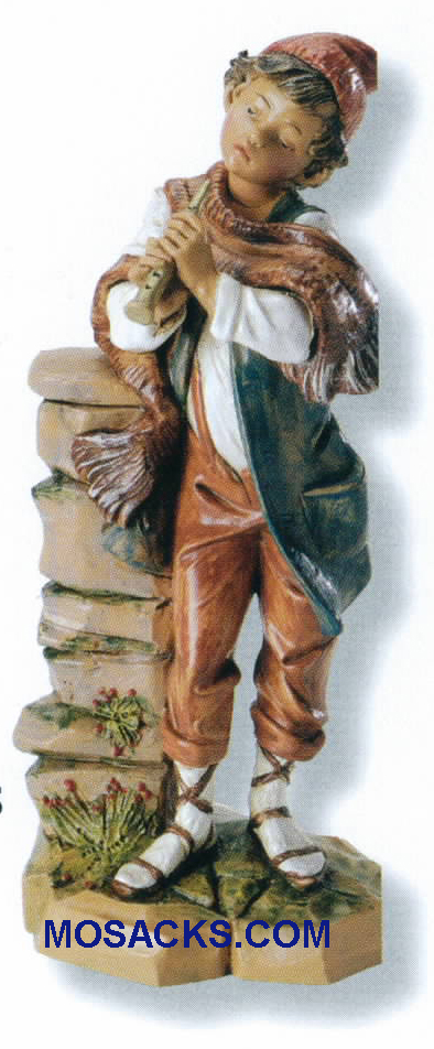 "Fontanini Heirloom Nativity 7.5"" scale Shepherd Daniel With Flute-72853, Fontanini Villager"