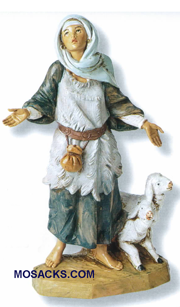 "Fontanini Heirloom Nativity 7.5"" scale Elisabeth Innkeeper's Wife-54815,  Fontanini Villager"