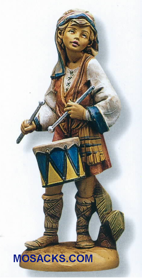"Fontanini Heirloom Nativity 7.5"" scale Jareth Drummer Boy-65169,  Fontanini Villager"