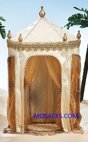 "Fontanini  Nativity 7.5"" scale King's Tent Ivory and Gold -50791"