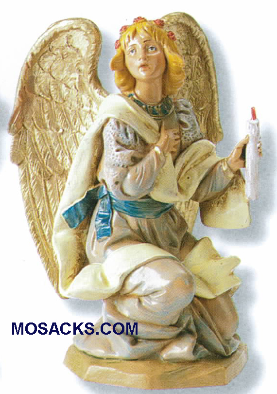 "Fontanini Heirloom Nativity 7.5"" scale Kneeling Angel-72818"