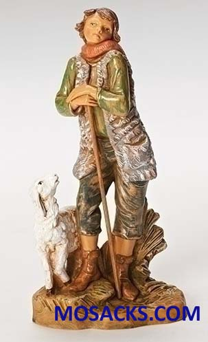 Fontanini 7.5 Inch Nativity Peter Shepherd with Sheep 20-52875