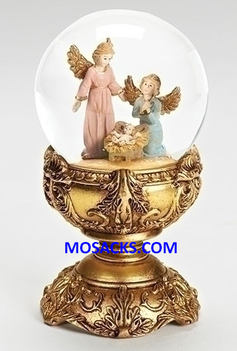 Fontanini 80 mm Glitterdome Angel With Babe 20-59075