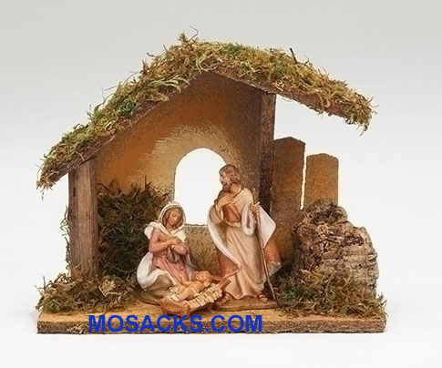 Fontanini  3.5 Inch Nativity 3 Piece Set with Italian Stable -55085