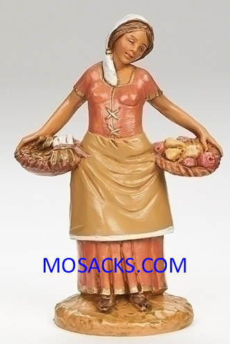 "Fontainin 5"" Heirloom Nativity Antonia Villager with Baskets-59809"