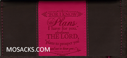 For I Know The Plans I Have For You LuxLeather Checkbook Cover-6006937122826