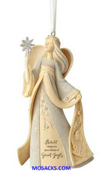 "Foundations Angel I Bring You Tidings of Great Joy Ornament 4"" h 6001150"