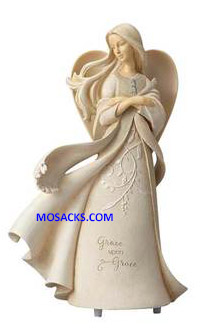 "Foundations Angels Grace Upon Grace Angel 9"" h 6001157"
