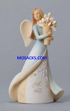 "Foundations Angel Get Well Mini Figurine 4.33"" h 4025642"