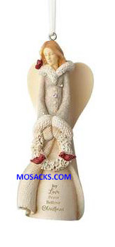 "Foundations Angel Joy Love Peace Believe Ornament 4"" h 6001156"