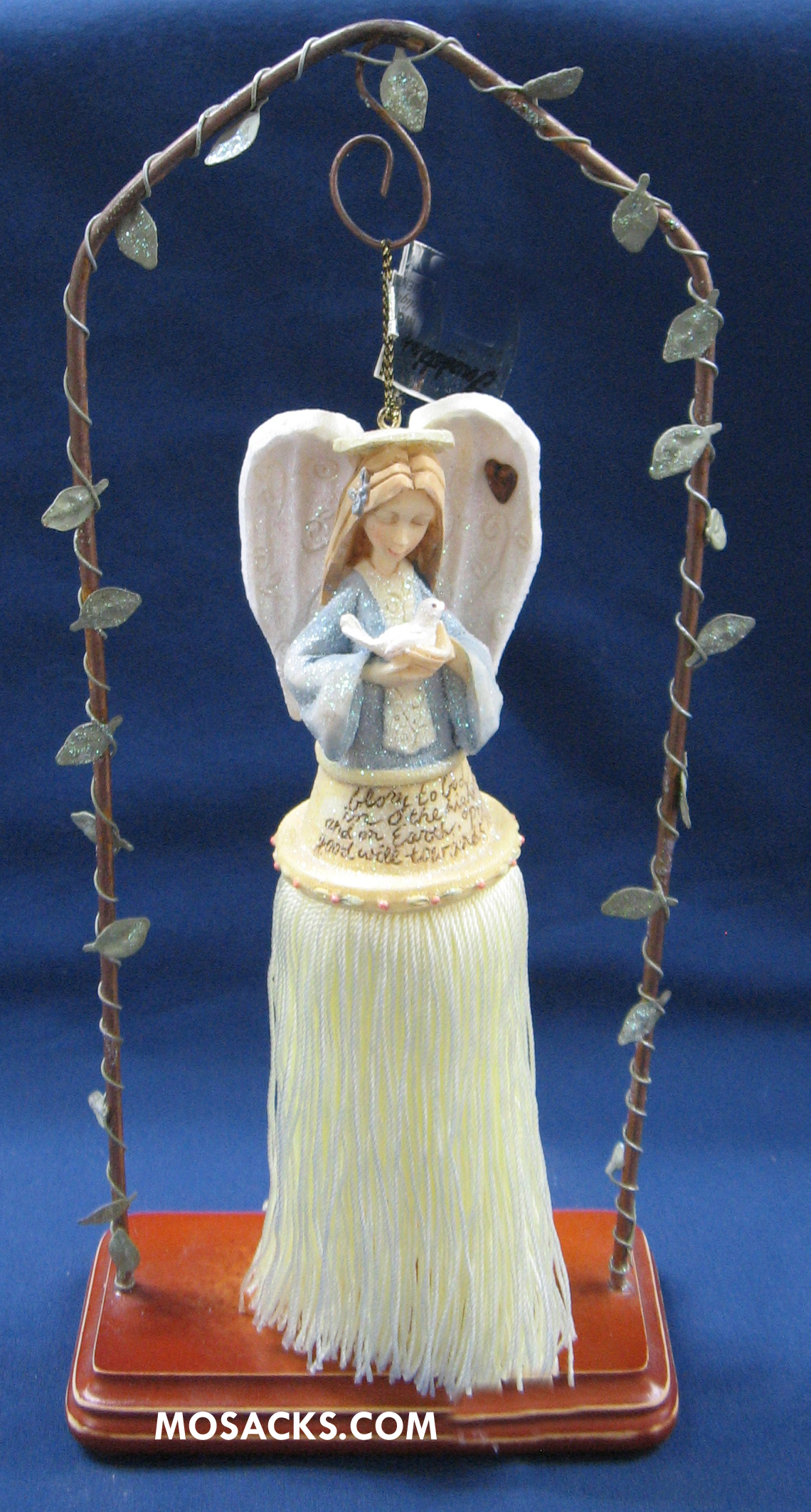 Foundations Ornament Angel With Dove 258-112716