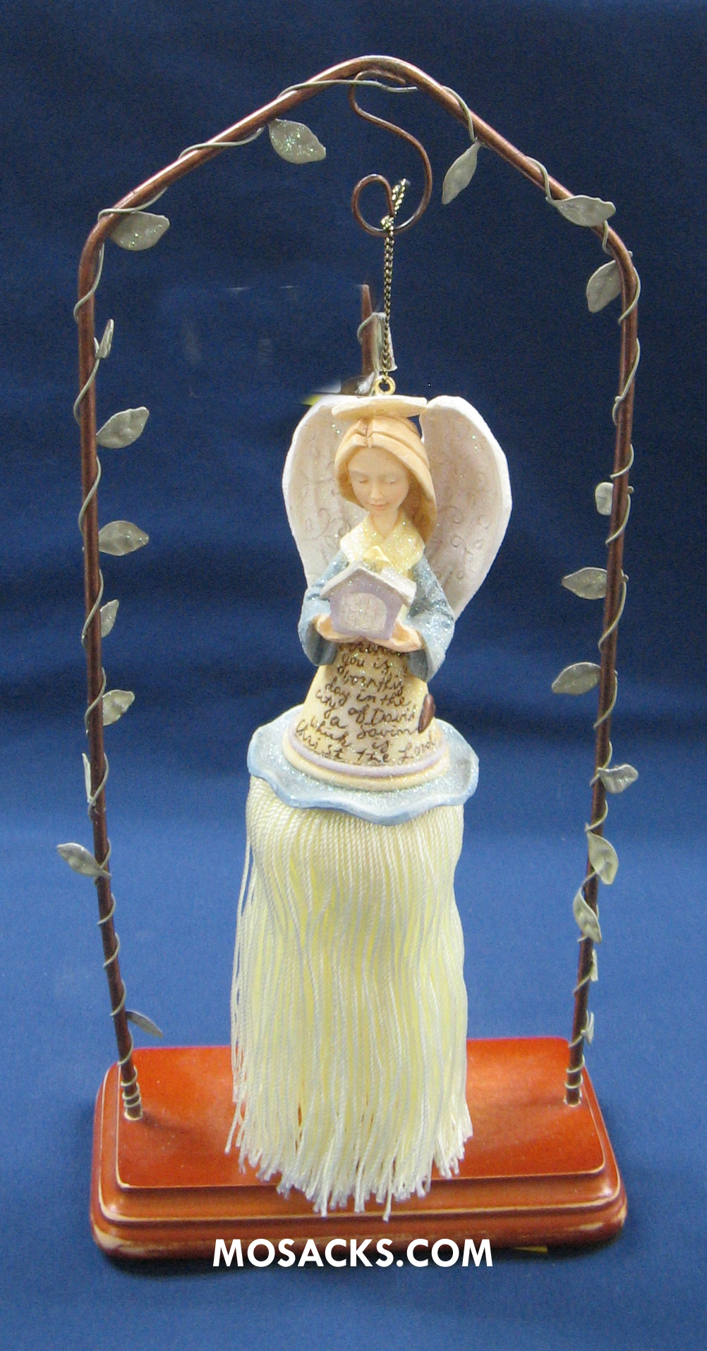 Foundations Ornament Angel With Nativity 258-12717
