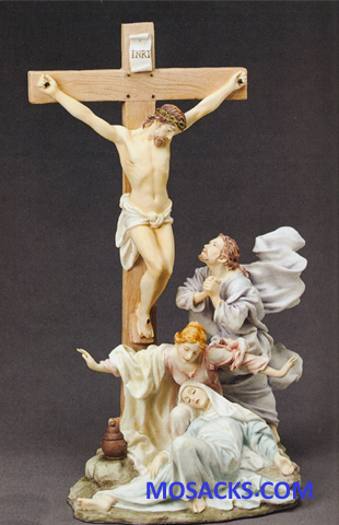 "Galleria Divina Crucifixion 13"" resin figurine 20-42947"