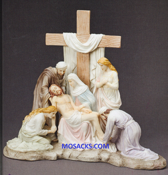 "Galleria Divina Descent From The Cross 10.25"" x 12"" resin figurine 20-43024"