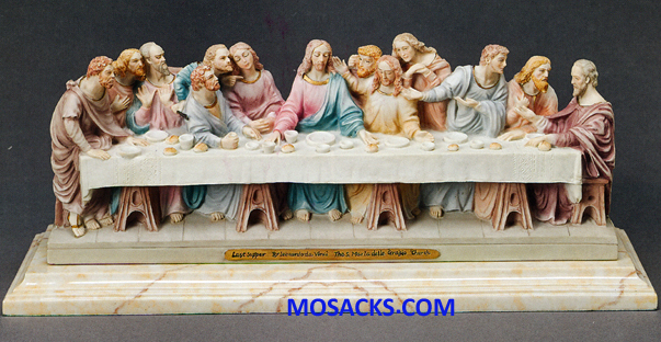 "Galleria Divina Last Supper 6"" x 14"" resin figurine 20-43016"