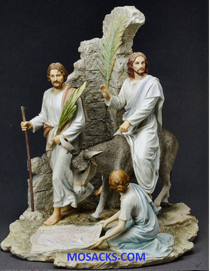 "Galleria Divina Palm Sunday 13"" resin figurine 20-42381"