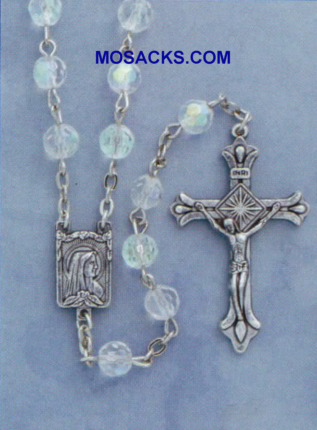Glass Clear Rosary #304CR