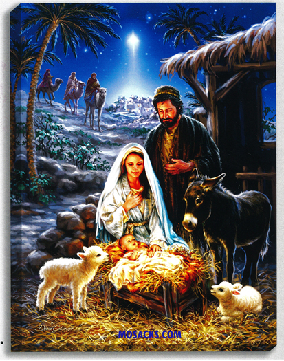 "Glow Decor A Savior Is Born by Dona Gelsinger 18""x24"" -DG1519"