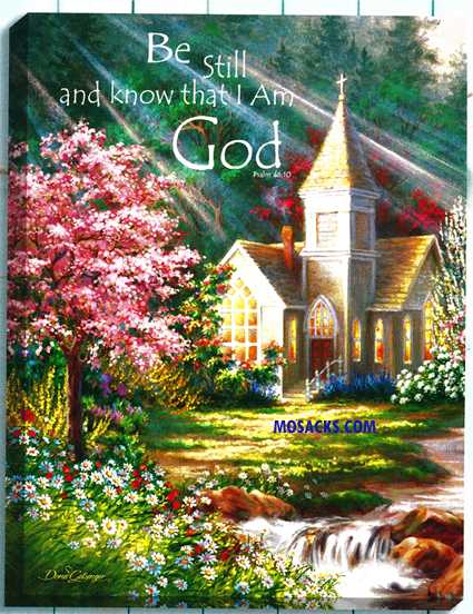 "Glow Decor Be Still Church by Dona Gelsinger 18""x24""-DG0809"