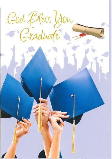 God Bless You Graduate Greeting Card -238-87800