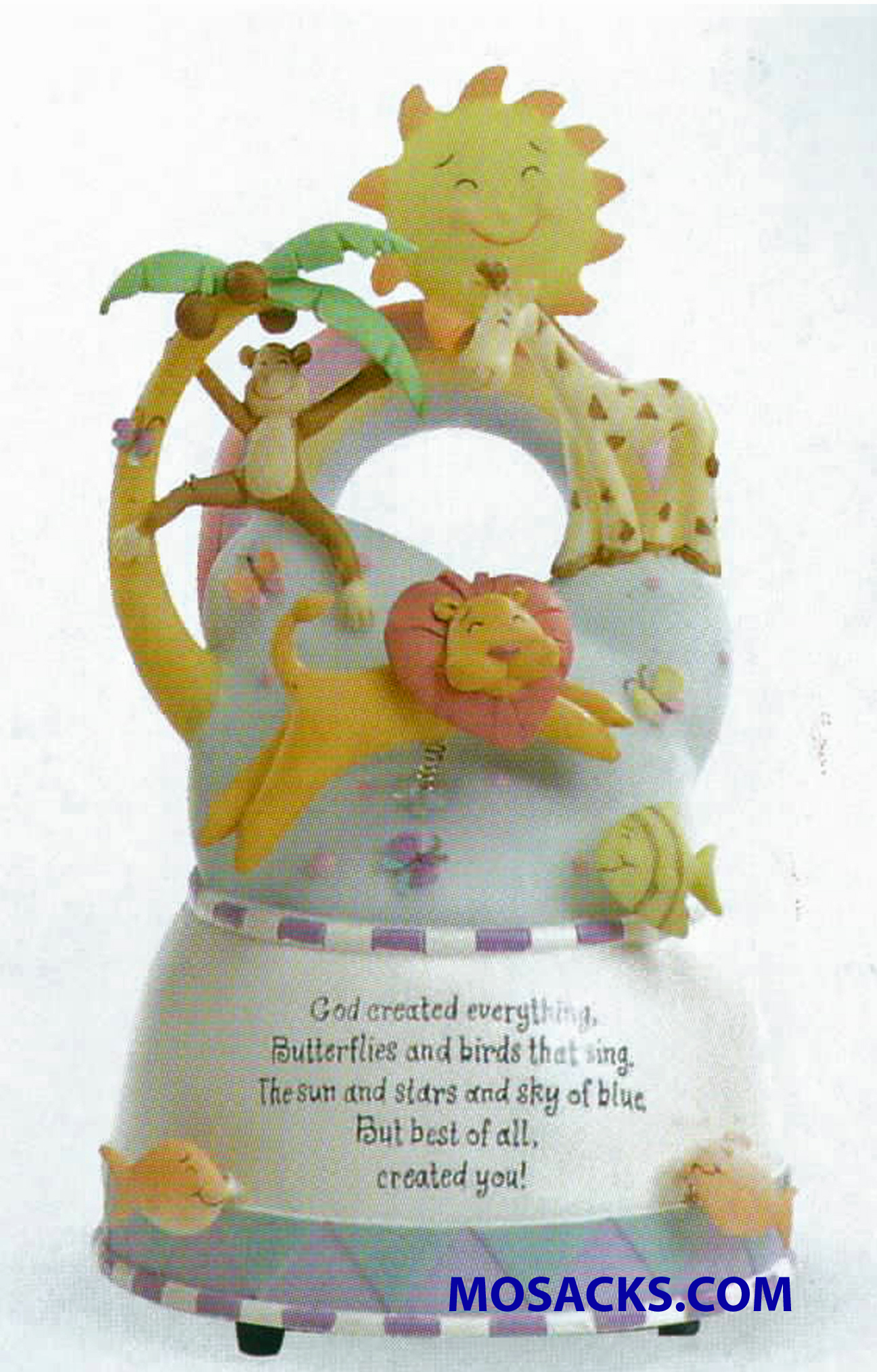 God Created Everything Musical Figurine-46550