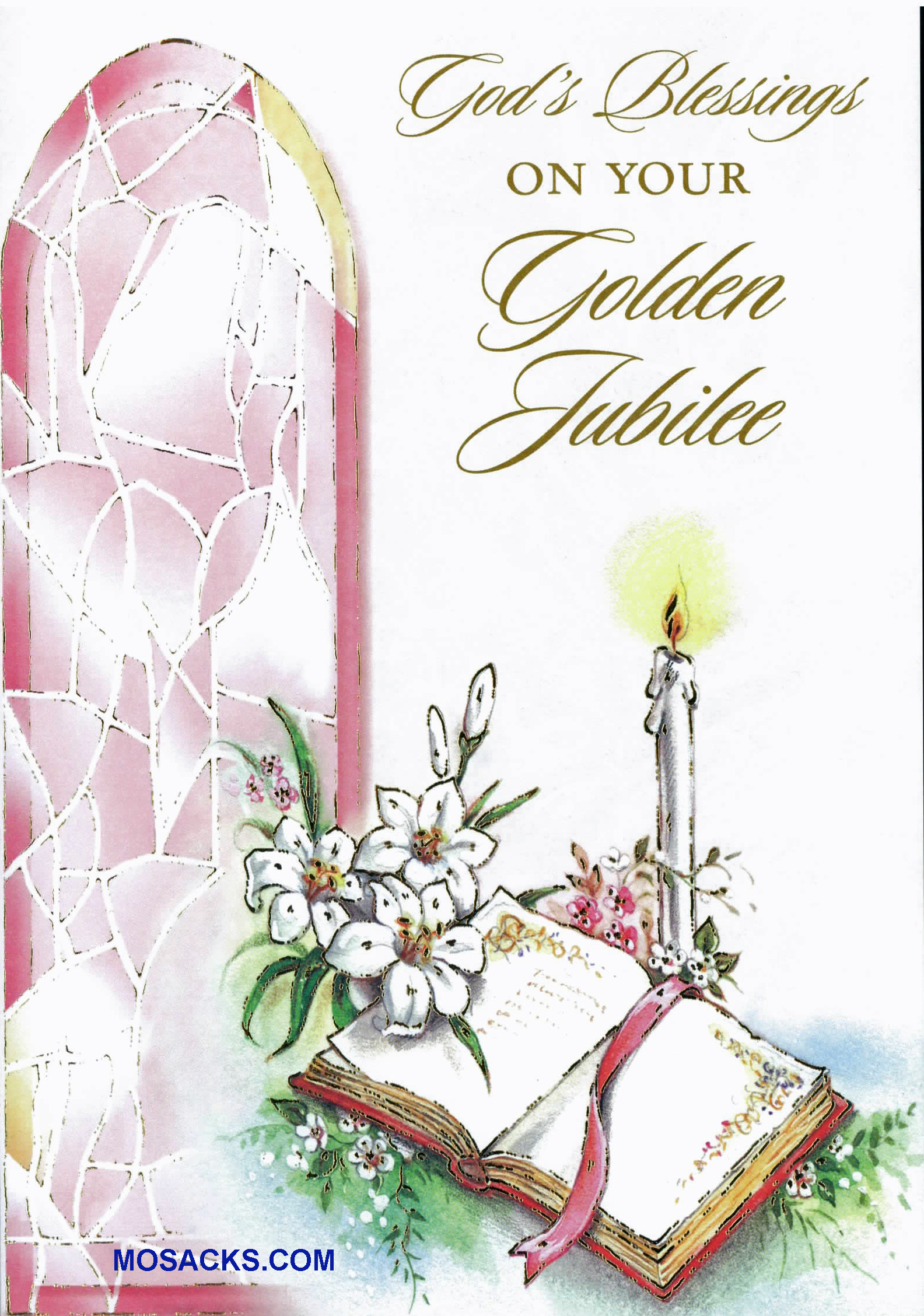 Angel kraft gift bag medium 353 5103630311 gods blessings on your golden jubilee greeting card jubg84288 inside message you have dedicated your life to christ and have followed your calling kristyandbryce Choice Image