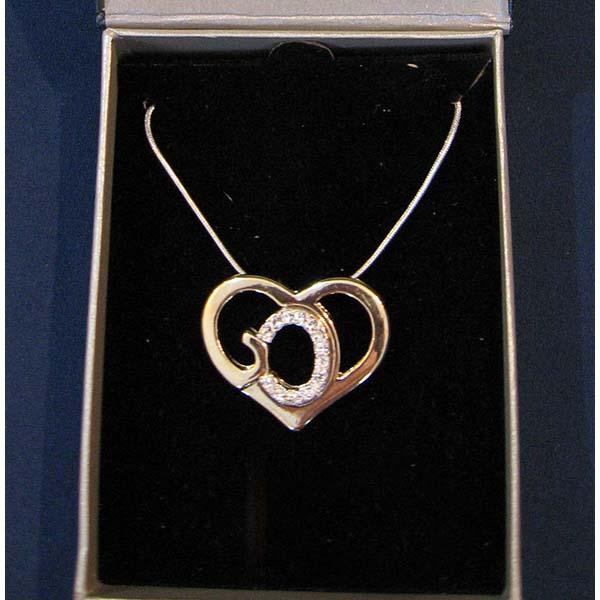 God's Heart 18 Kt Gold Layered - Austrian Crystal Necklace GDH-NK