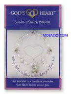God's Heart Silver-Gold Child's Stretch Bracelet GDH-CBR