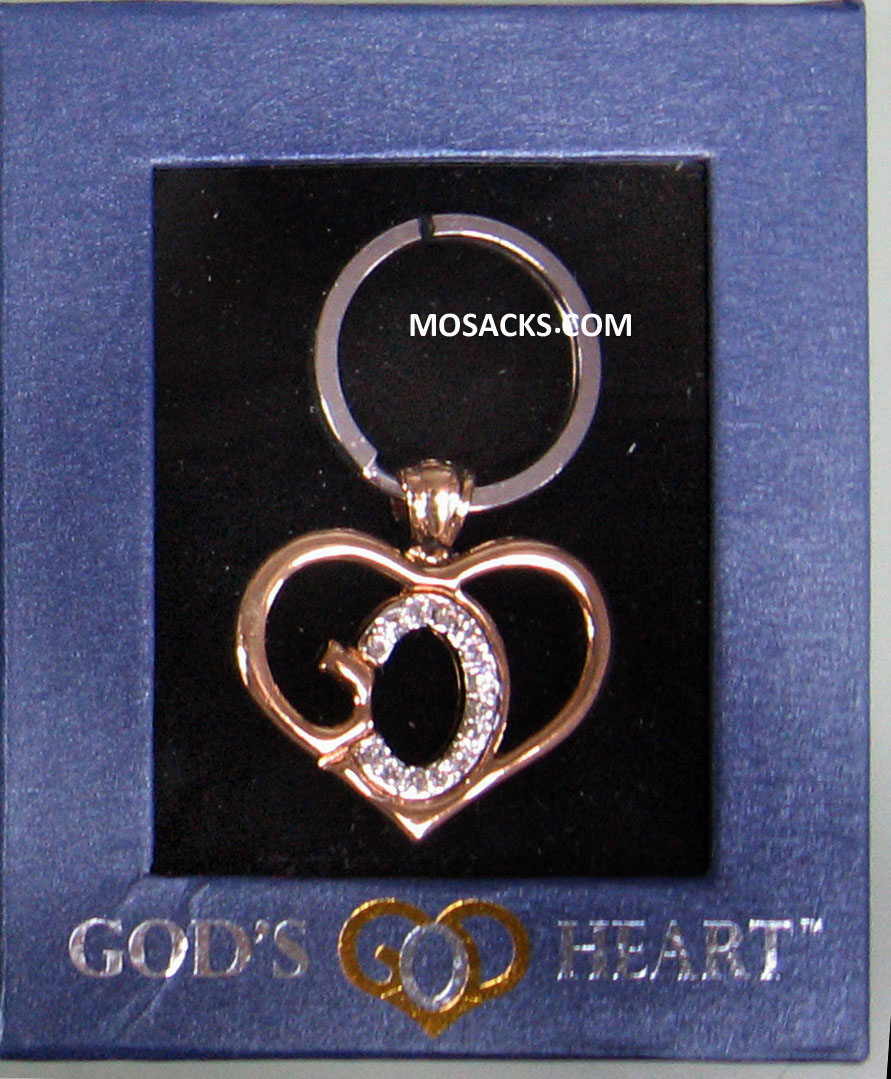 God's Heart Silver-Gold Key Chain GDH-KC