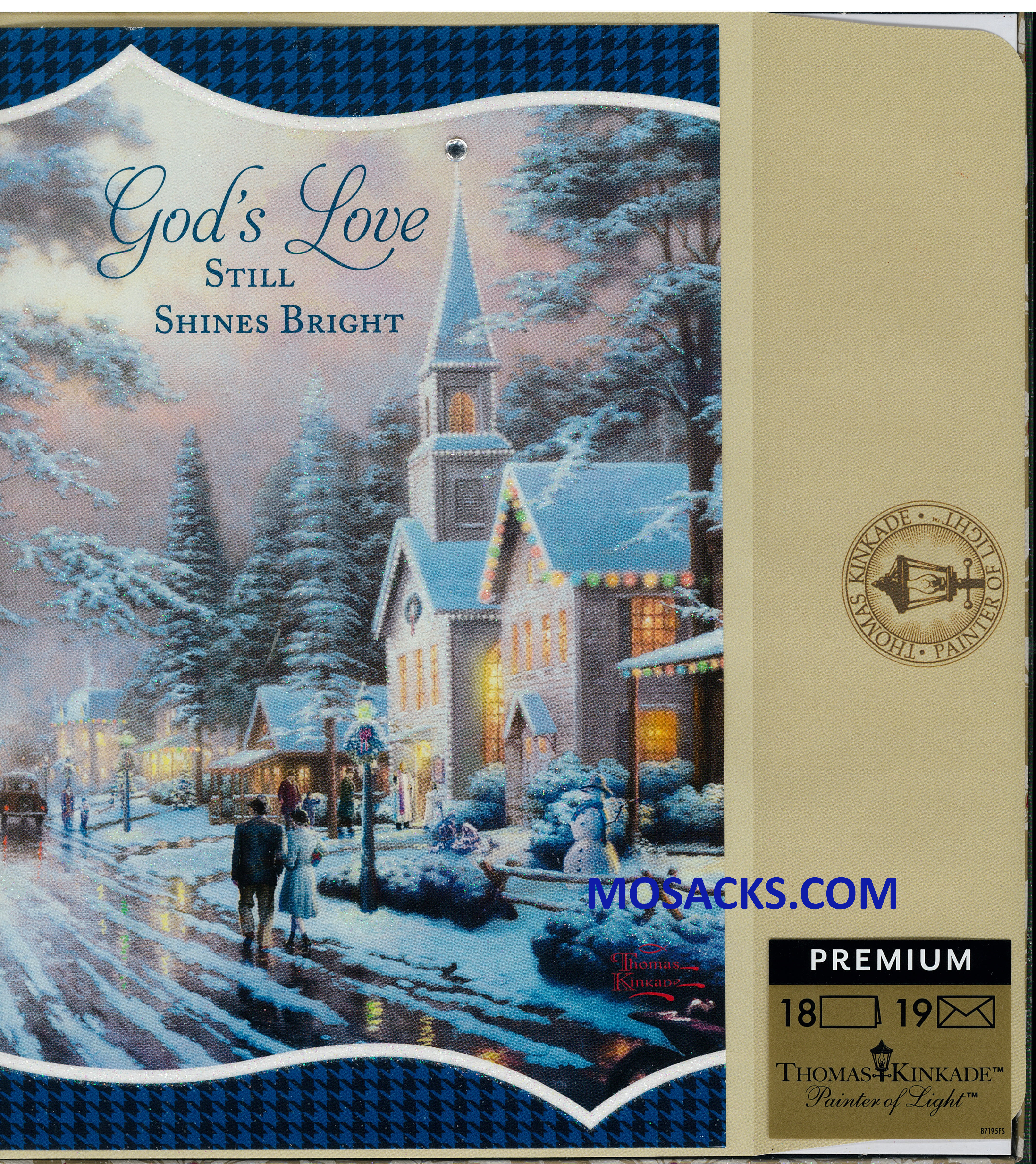 God's Love Still Shines T. Knikade Boxed Christmas Cards 18 cards and envelopes 217-60654
