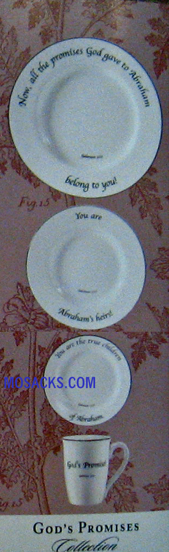 "Feed on the Word ""God's Promise"" Scripture Tableware 4-Pc #5-160-P"