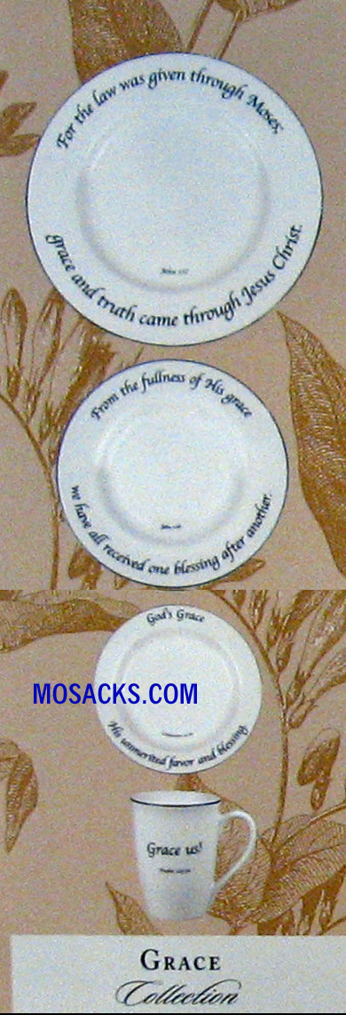 "Feed on the Word ""Grace"" Scripture Tableware 4-Pc Place Setting #5-220-P"