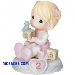 Precious Moments Growing in Grace Age 2 Blonde 3.25 inch 142011