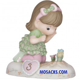 Precious Moments Growing in Grace Age 3 Brunette 4 inch 1420125B