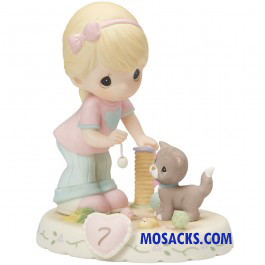 Precious Moments Growing in Grace Age 7 Blonde 4.75 inch 154034